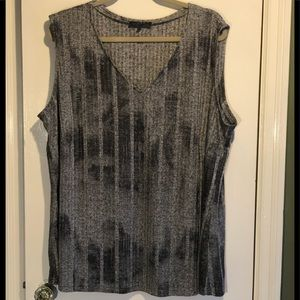 Light 2-Tone Silver & Gray stretchy Top